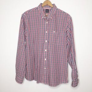 Dockers casual men's button up shirt plaid size XL